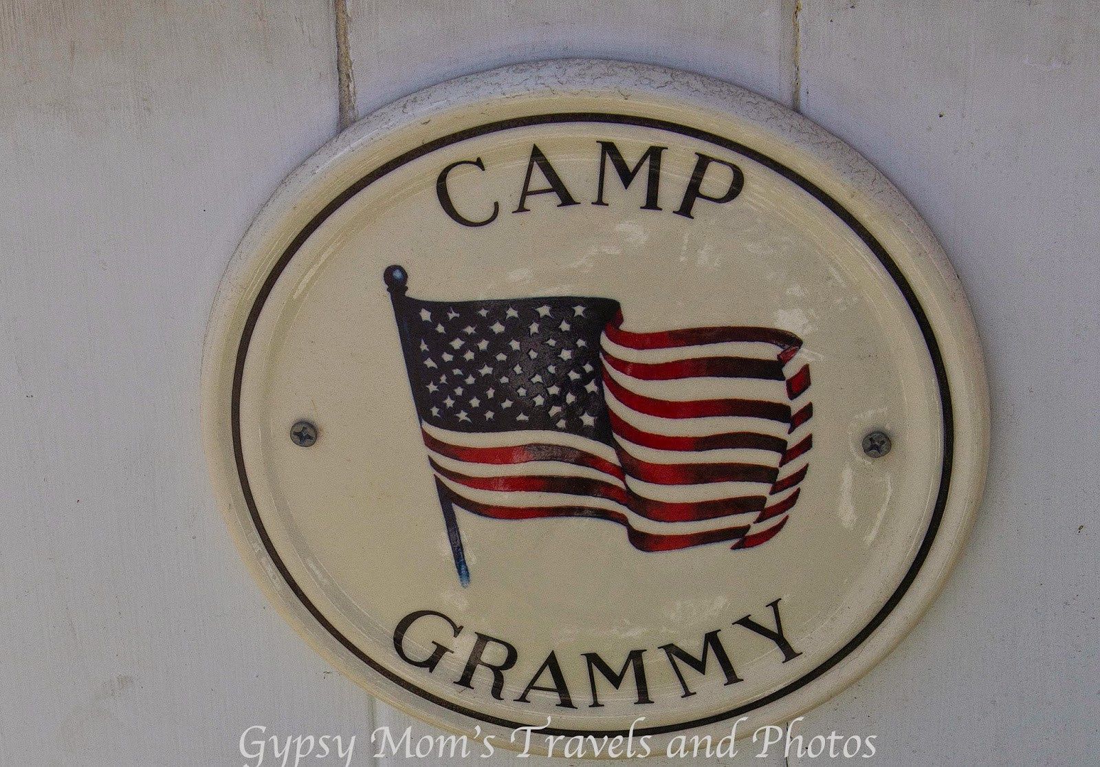 Sign saying Camp Grammy on Balboa Island