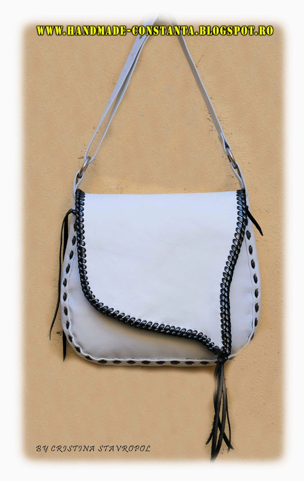 Leather bag white