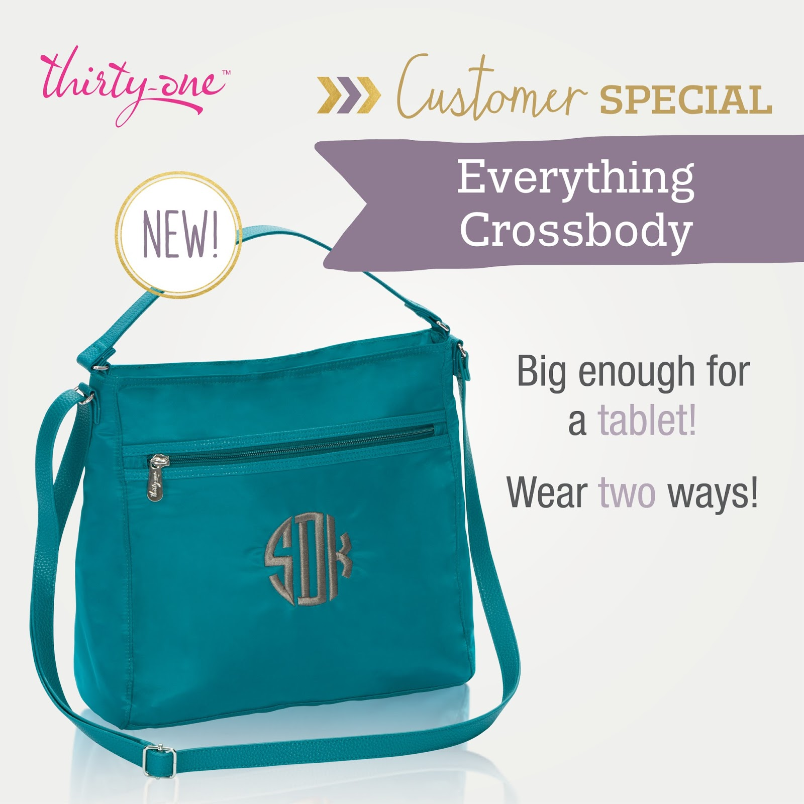 Thirty one november customer special 2014 - Two New Products Are Featured As The August Customer Special For Every 35 Spent You Can Choose An Everything Crossbody For Only 29 Reg