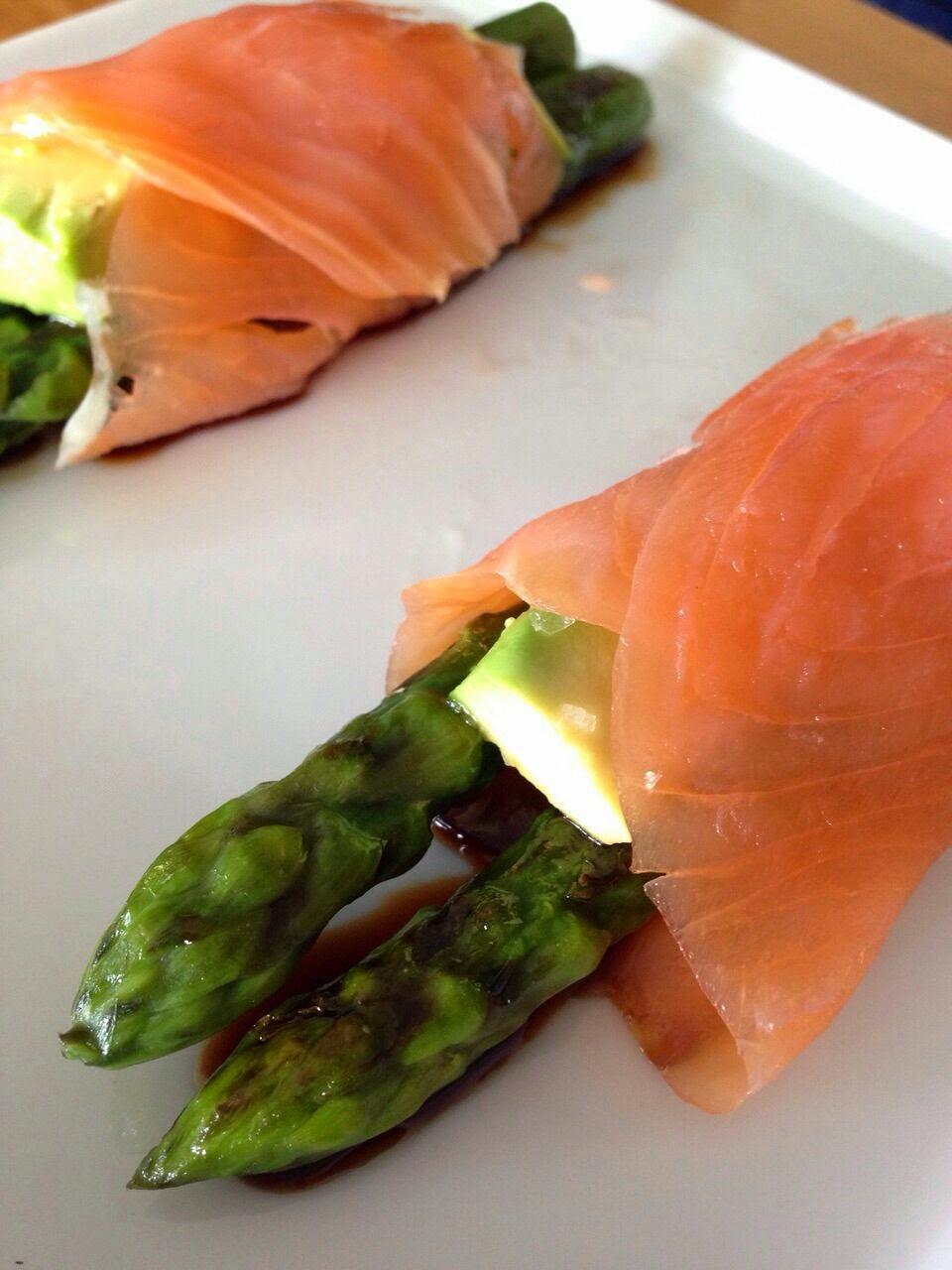 Farcellet de tardor i espàrrecs amb salmó (Daniel Prat)