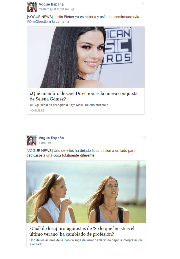 Noticias Vogue España