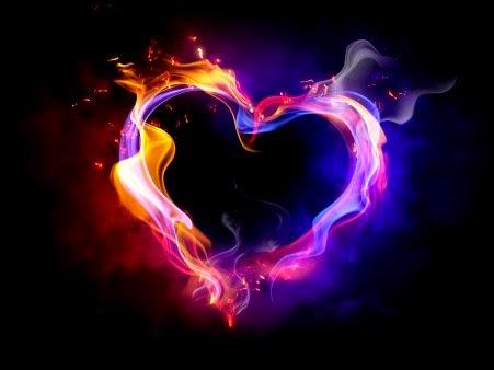imagenes de Corazones lindos con llamas para fondos de pantalla ...