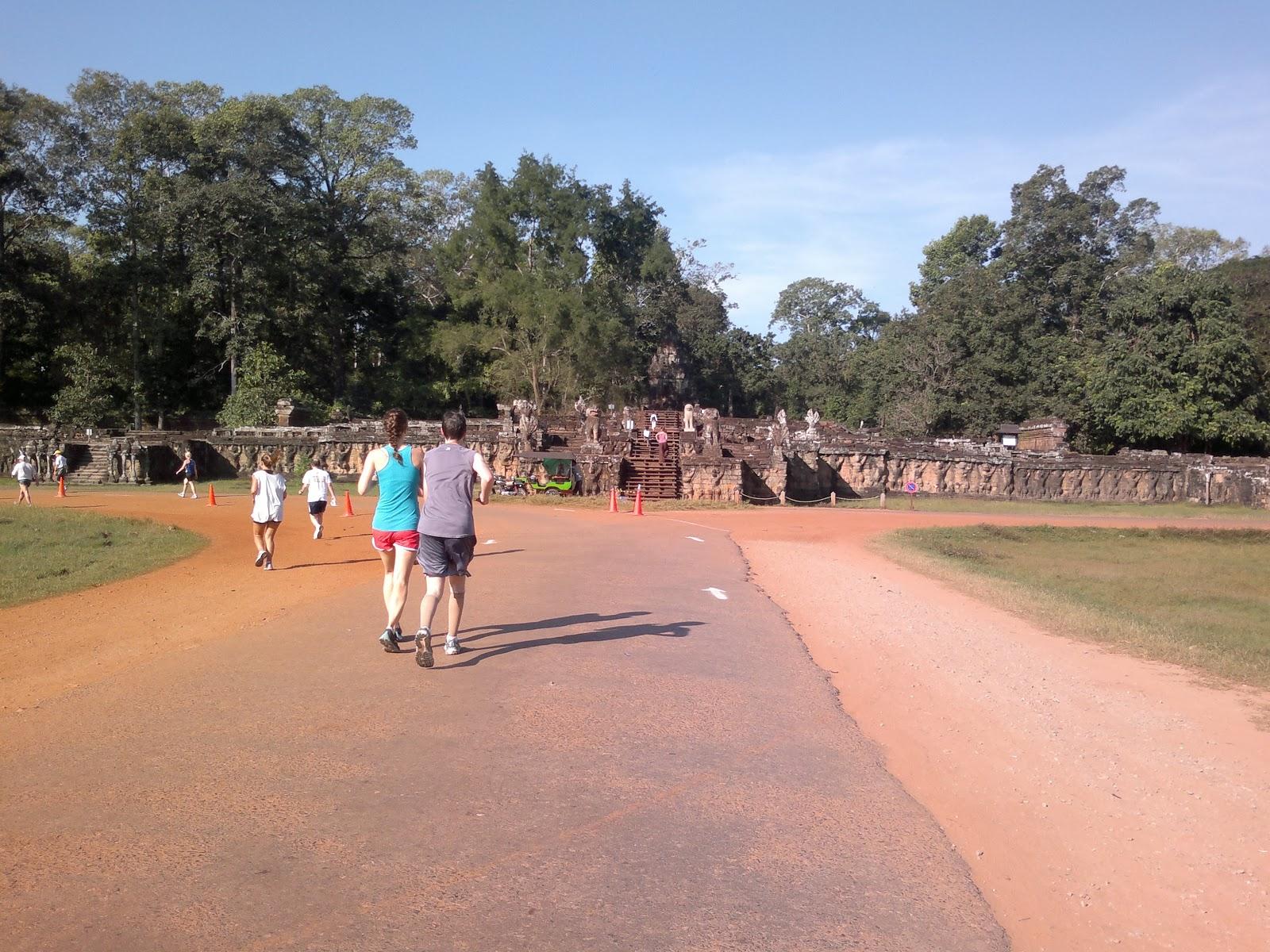 Wonders of the world running the angkor wat half marathon for Terrace jogging track