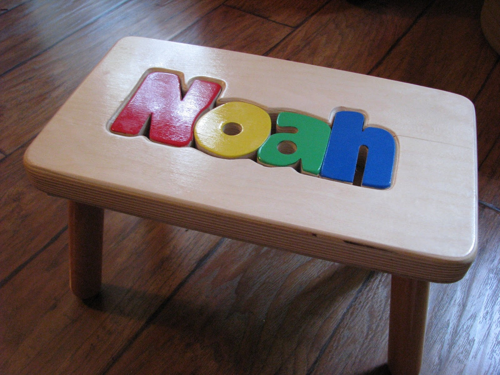 Superb img of  Footsteps: Cubbyhole Personalized Puzzle Stool Review & Giveaway with #214A90 color and 1600x1200 pixels