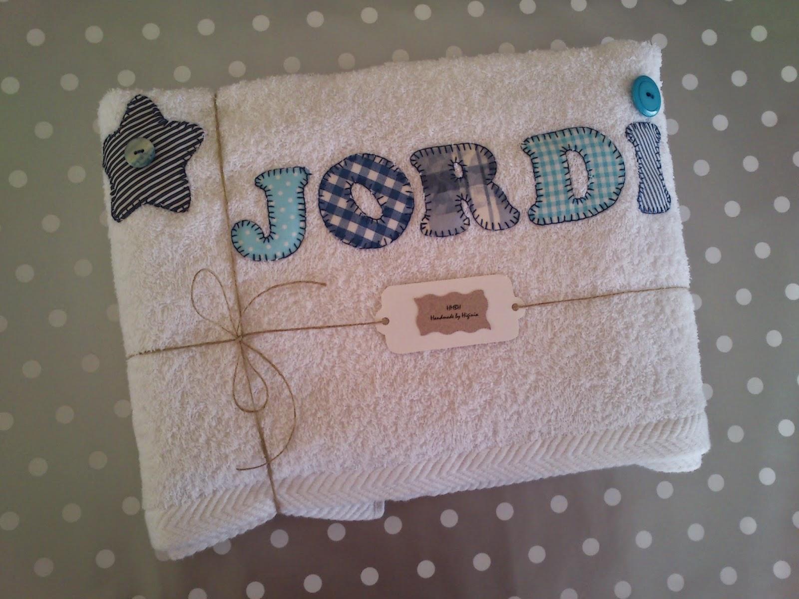 Handmade by higinia toallas personalizadas - Toallas infantiles personalizadas ...
