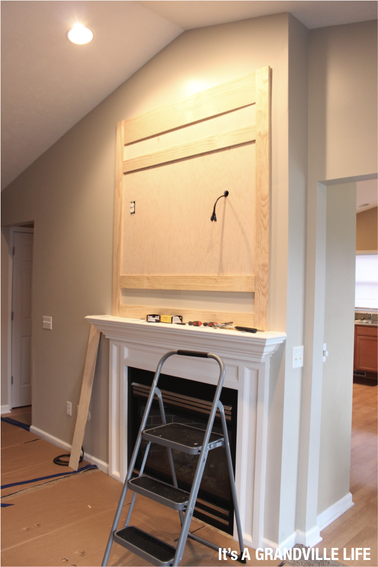It\'s A Grandville Life : DIY Board and Batten Fireplace