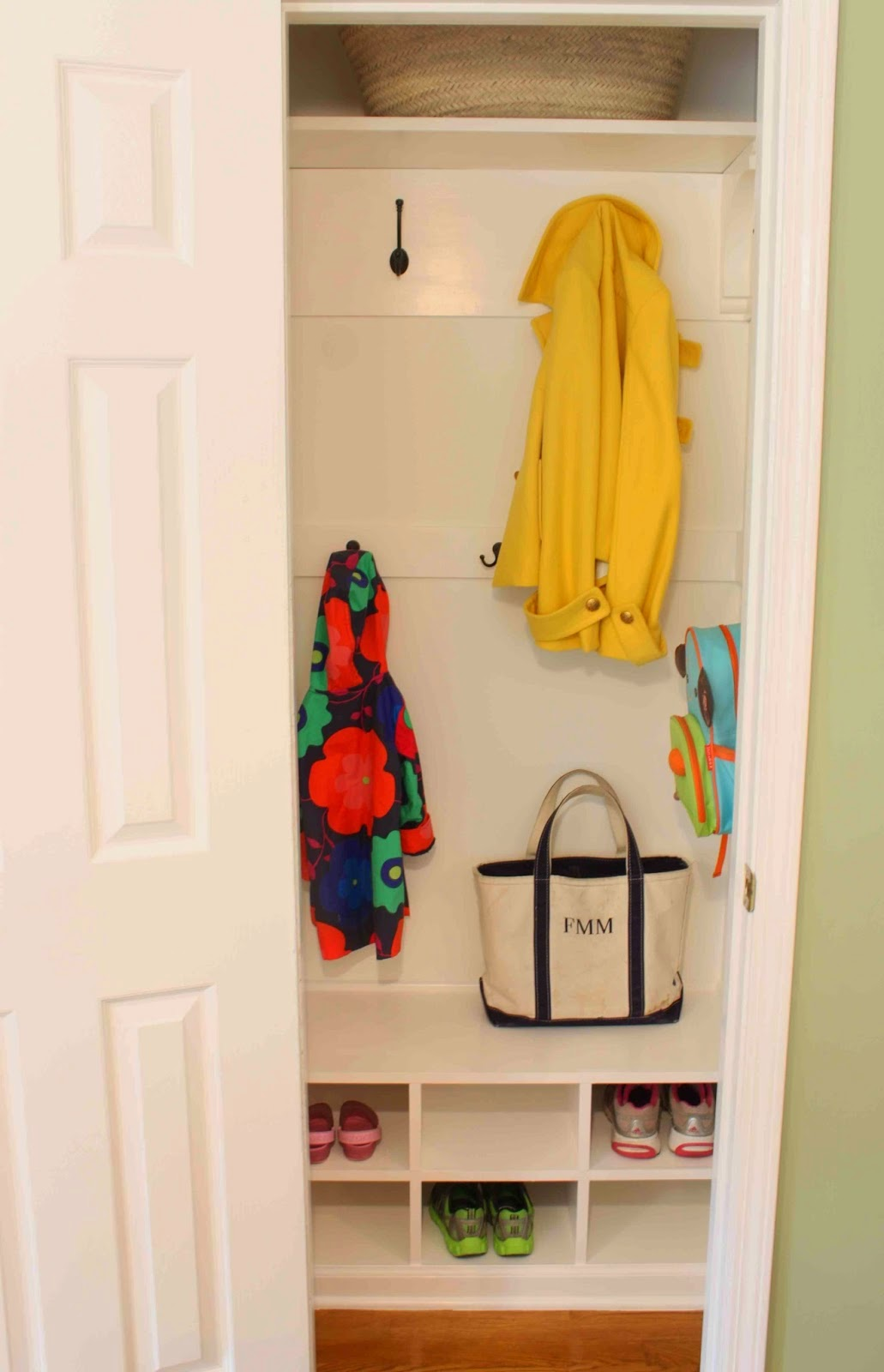 DIY - Closet to Mudroom