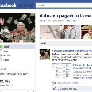 Vaticano pagaci tu la manovra finanziaria