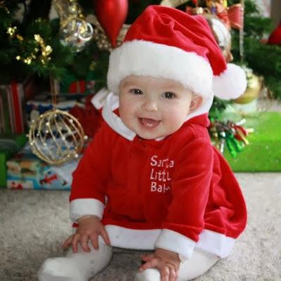 Babybild Weihnachten
