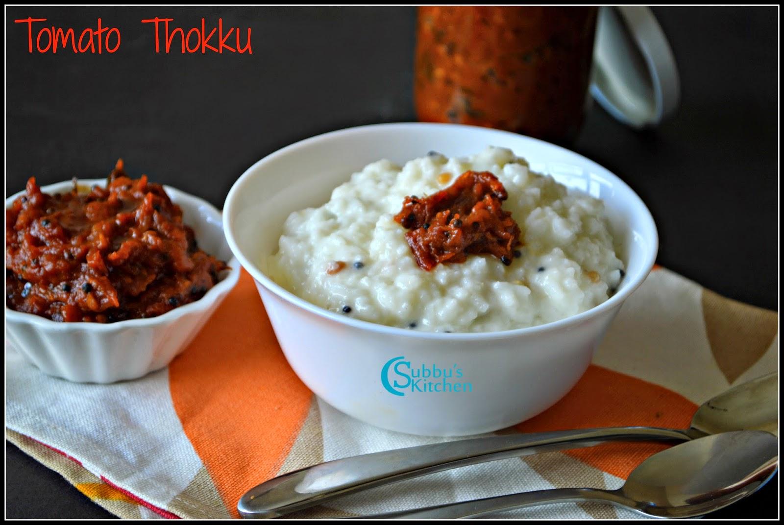 Tomato Thokku (Thakkali Thokku)