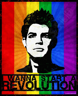 Adam Lambert Rainbow Flag Revolution T-shirt design