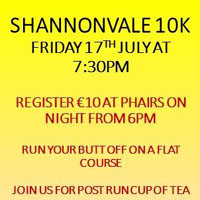 Fast 10k race nr Clonakilty...Fri 17th July