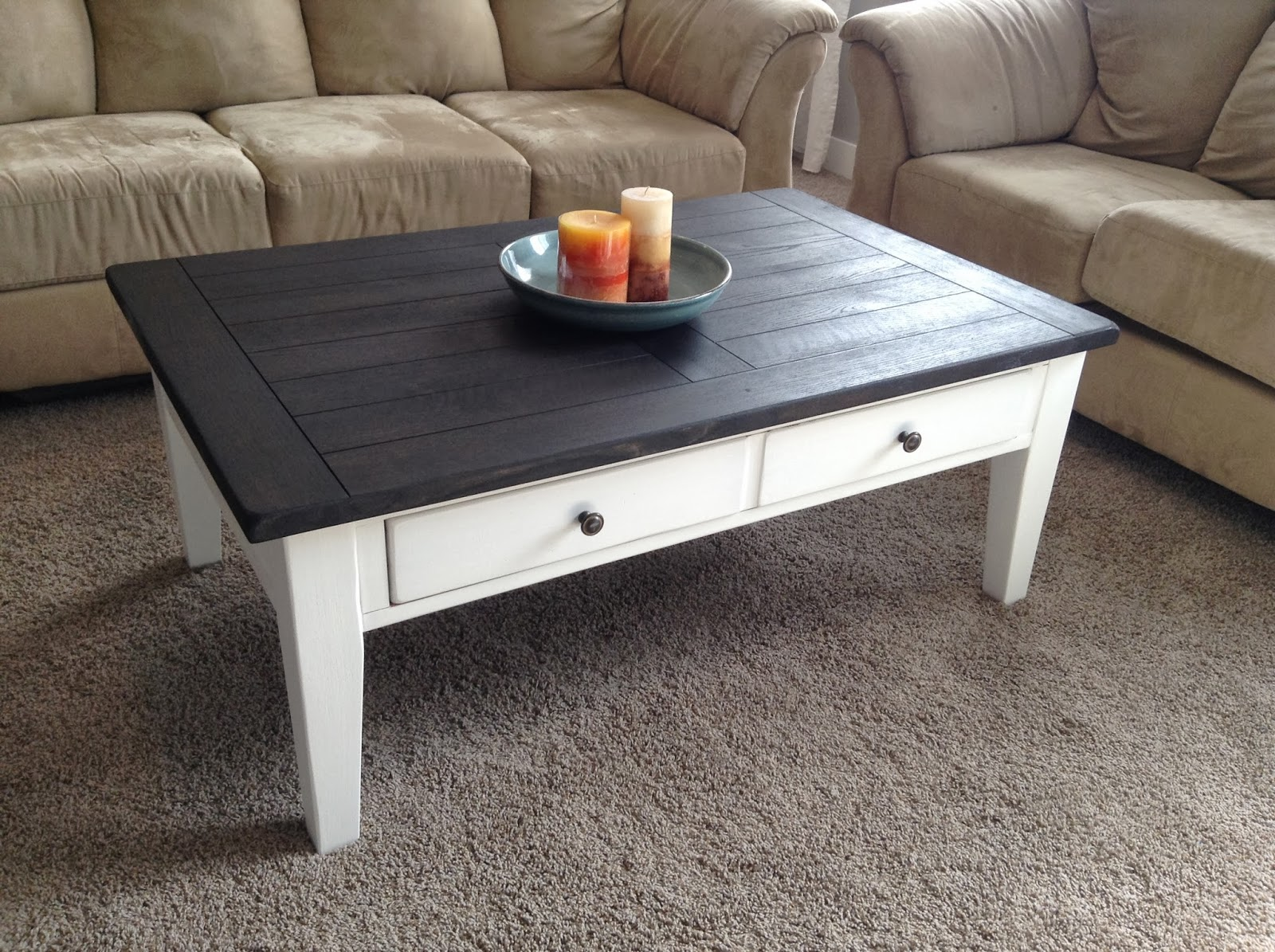 Shabbystringham coffee table makeover Eclectic coffee table makeovers