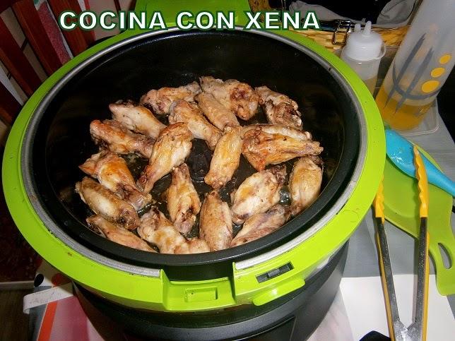 cocina con xena alitas con hierbas provenzales en