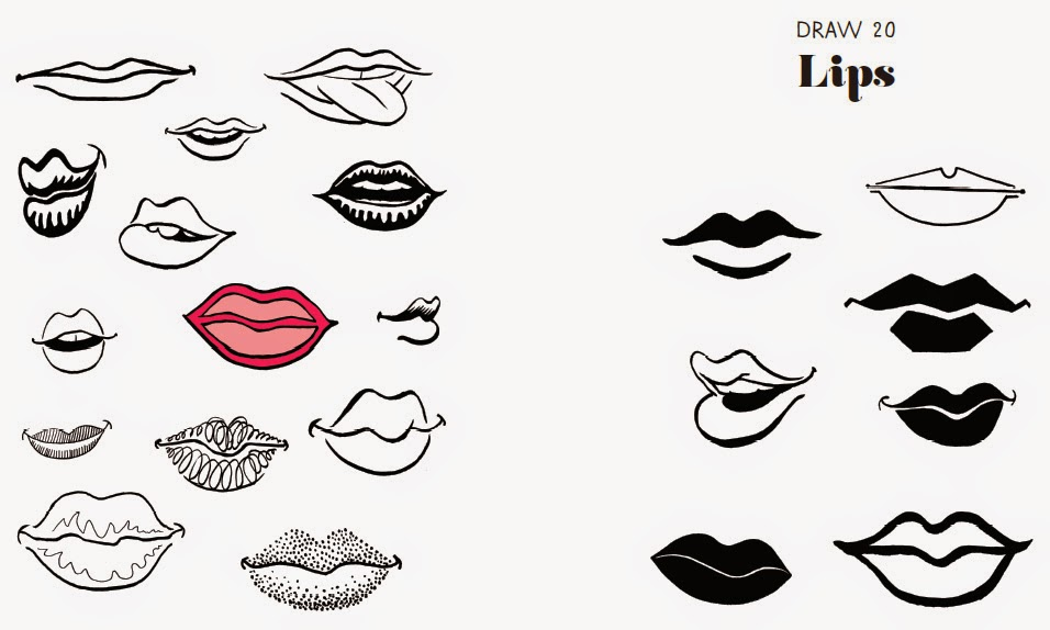 how to draw on lips