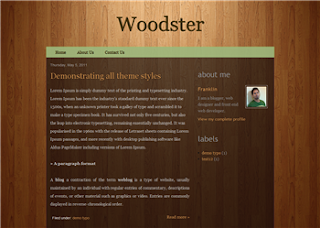 Woodster Blogger Template