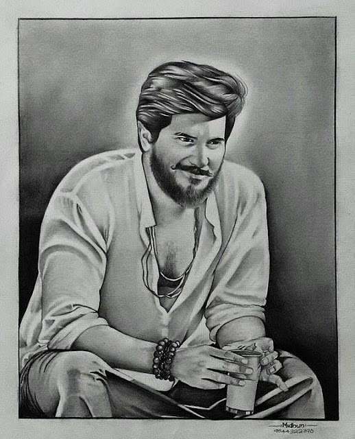 Artists created hundreds of sketches for Dulquer Salmaan - Dulquer Salmaan Painting Drawings