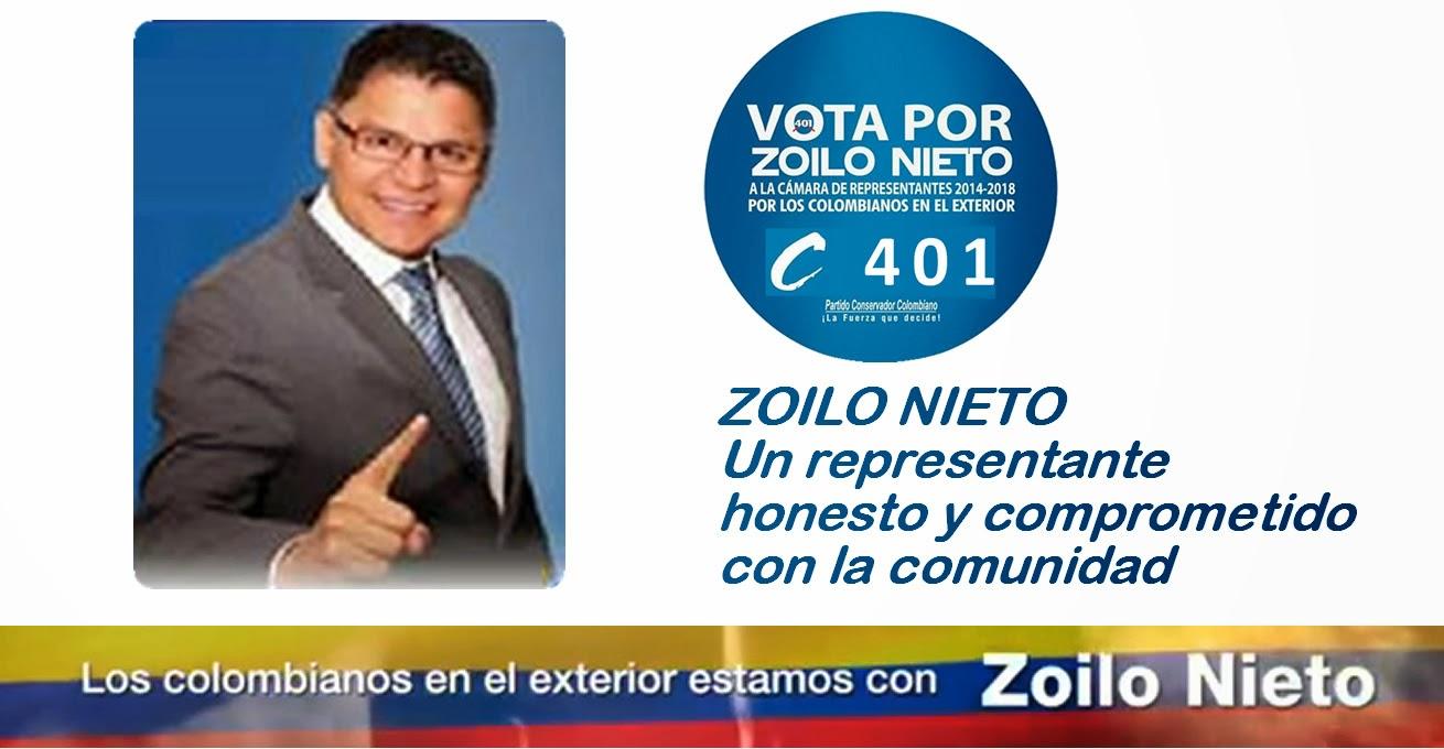 ZOILO NIETO es un representante honesto y comprometido con la comunidad