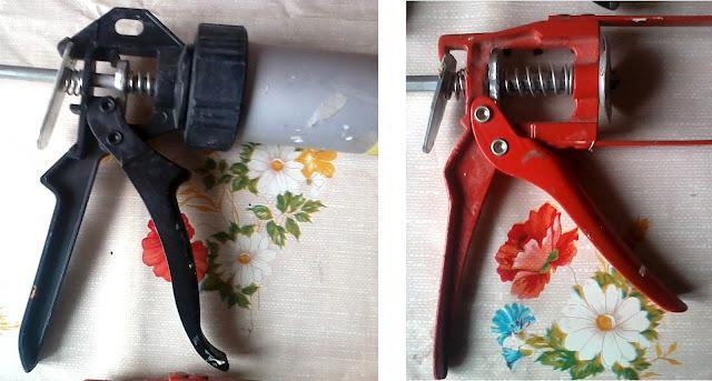 Закрытый и скелетный пистолеты для герметика фото