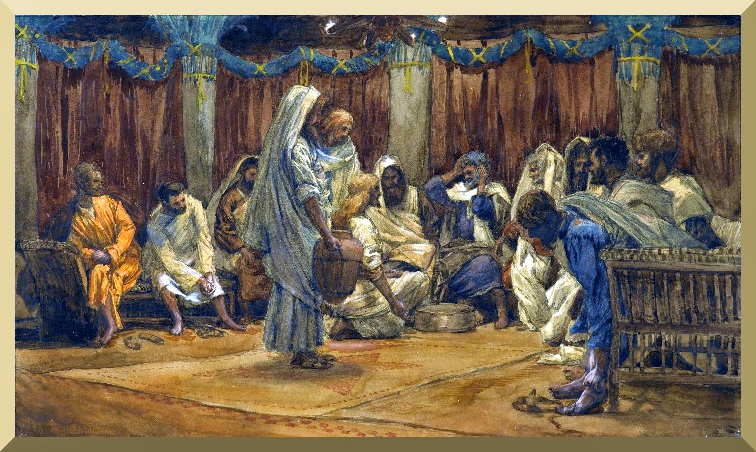 """The Washing of the Feet"" -- by James Tissot.jpg"