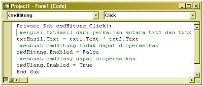 Cara membuat Label, TextBox, CommandButton (VB 6.0)