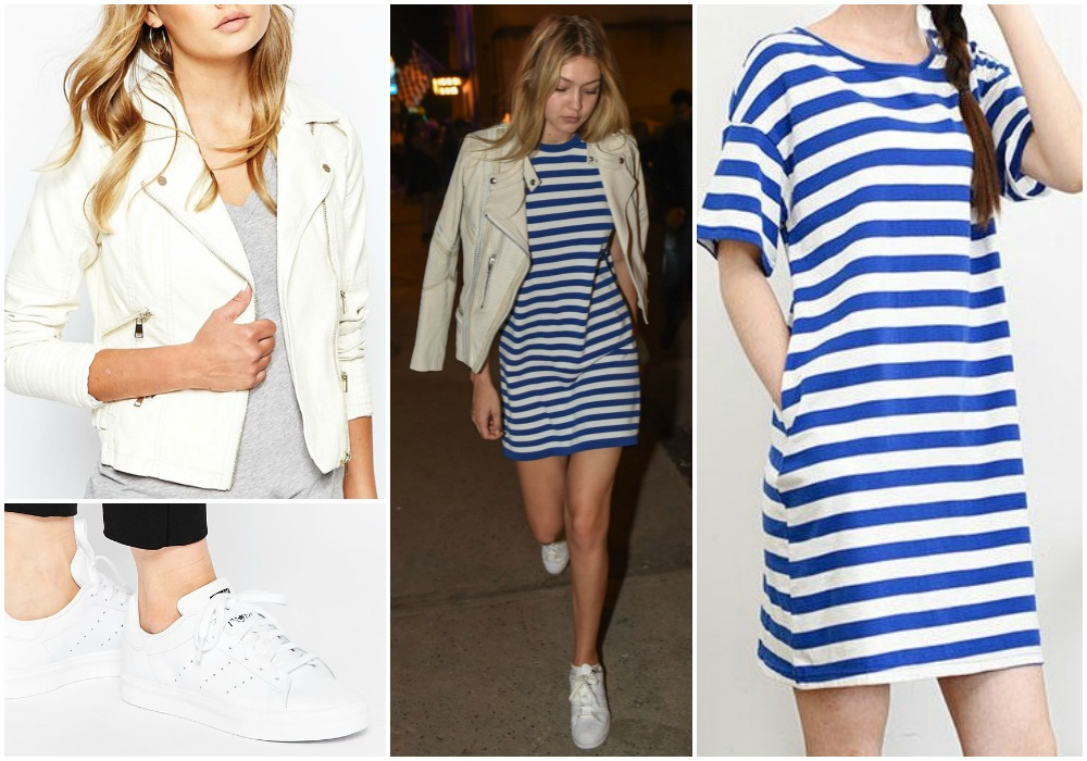 ... Stan Smith Trainers £65 | YesStyle Blue Striped T-shirt Dress £19