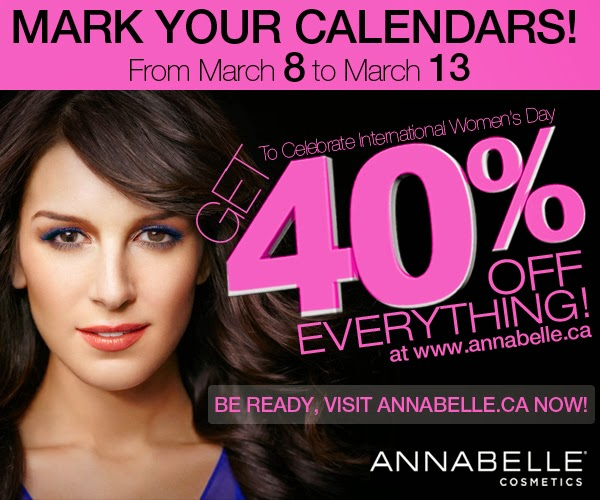 Annabelle.ca sale 40% off March 8-13