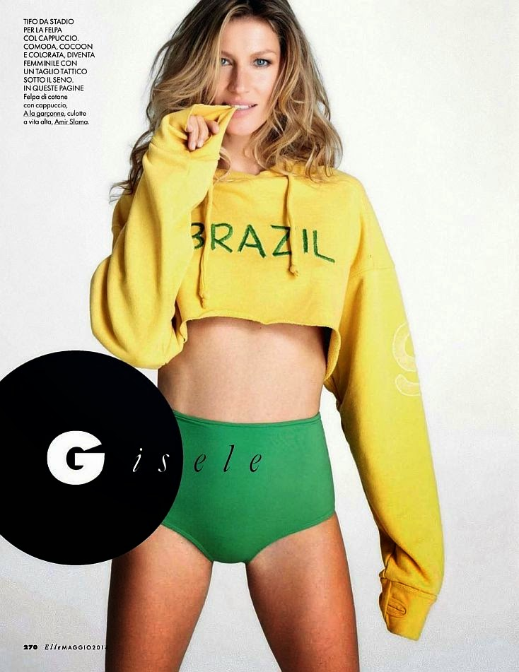 ‭Discussing about her relationship with the sport activity. Today for the Elle Canada, the 33-year-old's look like ready to being the most beauty manager ever of Brazilian soccer team.