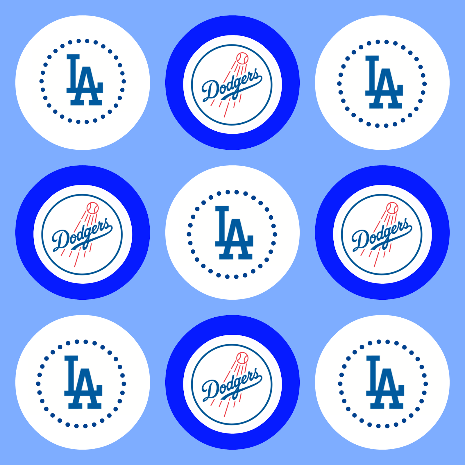 Project Party Perfect Free Printables Go Dodgers