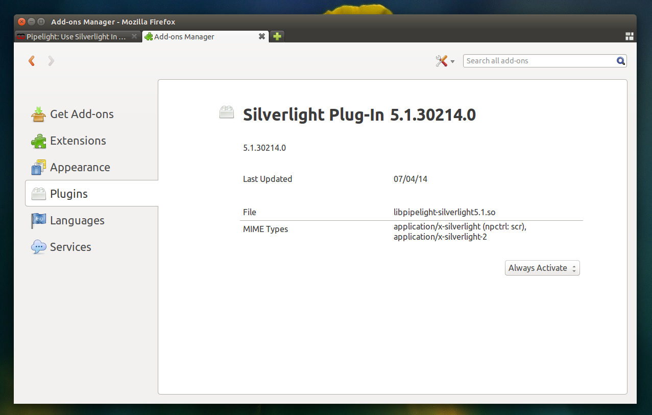 Silverlight Linux