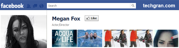 Megan Fox on Facebook, Actor/Director