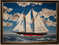Rug Bluenose made by Elisabeth LeFort in 1980