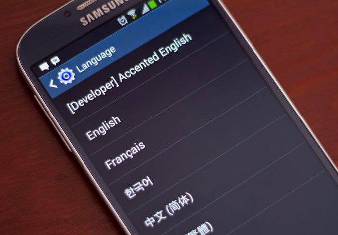 How to change language in Samsung Galaxy s4
