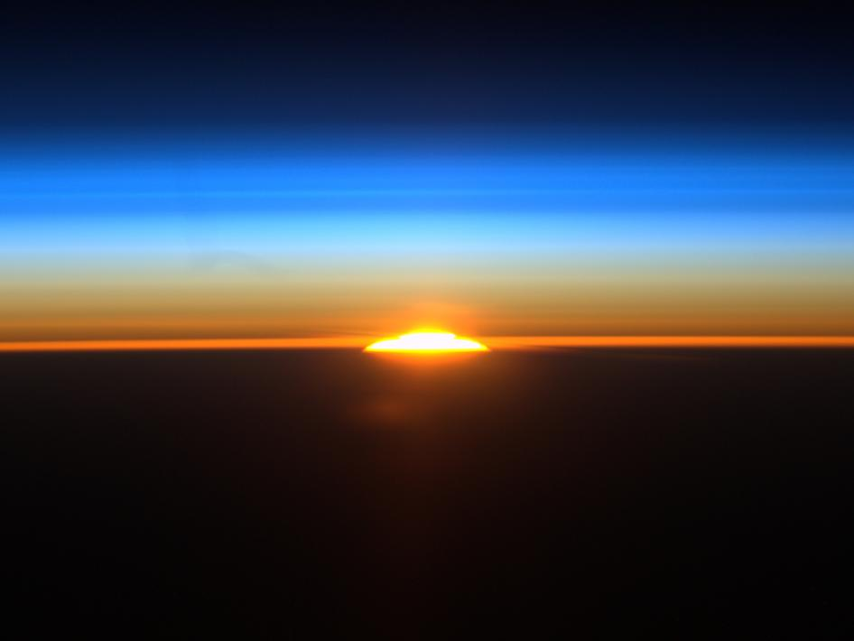 beautiful sunrise and space - photo #29