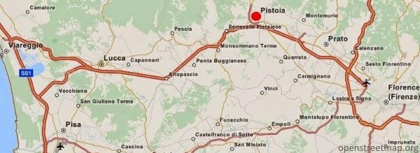 Pistoia Mapa
