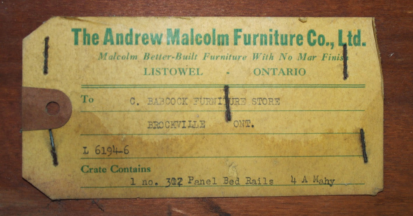 We Used To Make Things In This Country. #175: The Andrew Malcolm Furniture  Company, Ltd., Listowel, Ontario