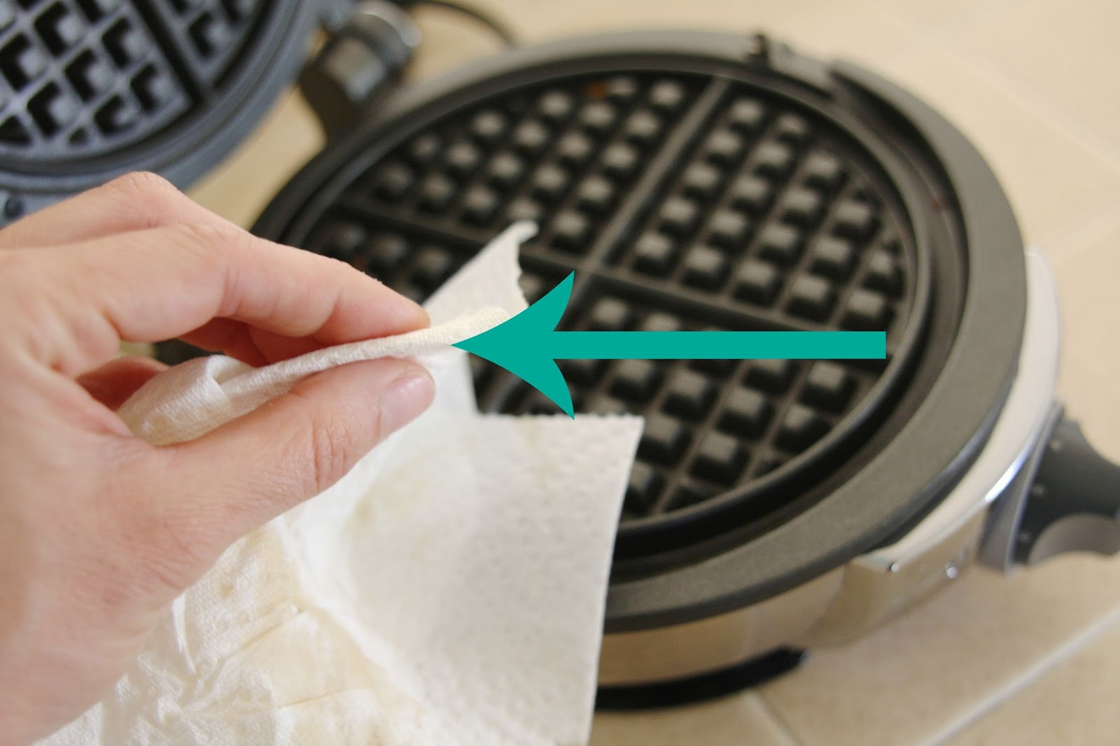 How To Clean A Waffle Iron With Non Removable Plates Simply Organized