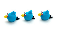 Blue Angry birds iz tičino mase - Angry birds fondant
