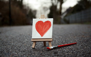 Painting Love Heart HD Wallpaper