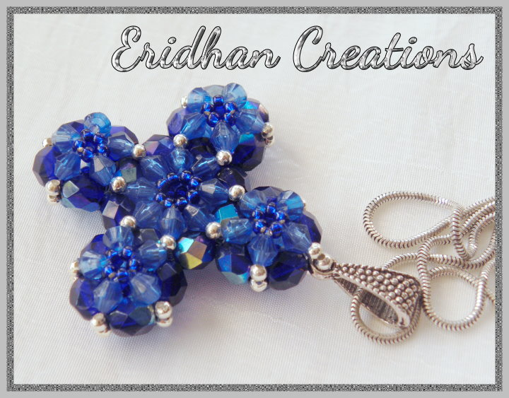 Eridhan creations beading tutorials beaded cross and some earrings beaded cross pendant aloadofball Choice Image