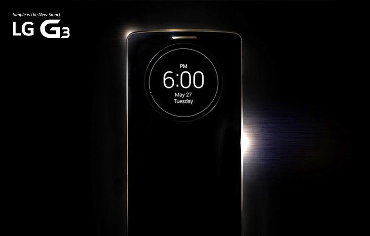 Anuncio de la presentación en UK del nuevo LG G3.
