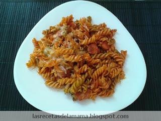 Las recetas de la mam receta de espirales con tomate - Superchef cf100 ...