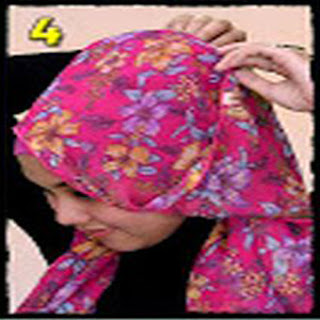 Cara Memakai Jilbab Kreasi Jilbab Pashmina Motif Bunga Untuk Kepesta