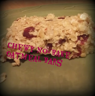 Chewy No-Bake Oatmeal Bars
