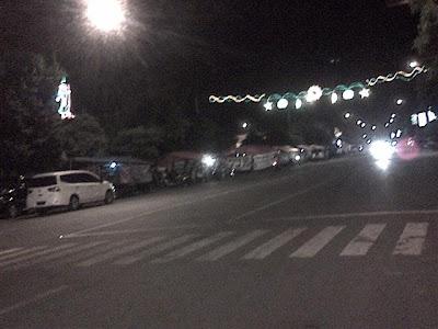 Suasana malam hari di Jl. Sunan Kalijaga/Kompleks Gor Rangga Jaya Anoraga