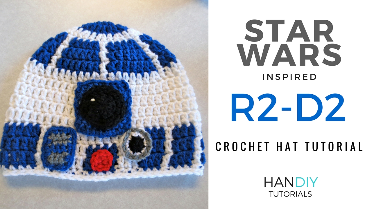 Free Crochet Pattern Star Wars : HanDIY Tutorials: R2-D2 Droid Crochet Hat Tutorial ...
