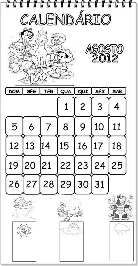 ... calendarios para colorir e aprender com a turma da monica calendario