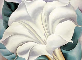 O'Keeffe Trumpet Flower Art