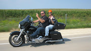 Chad and Lisa on their Harley.