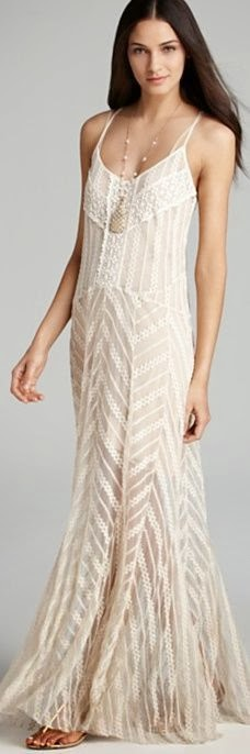 Adorable Half White Thin Strap Long Maxi Dress